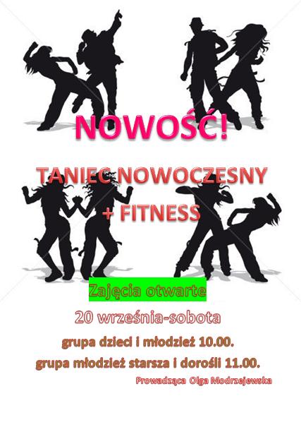 taniec nowoczesny, fitnes